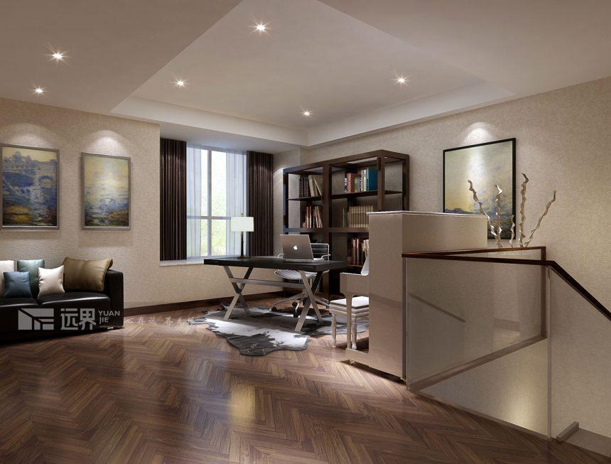 成都远大林语城装修设计案例效果图客厅