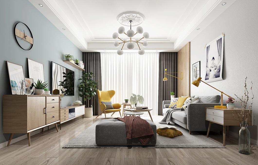 木地板客厅