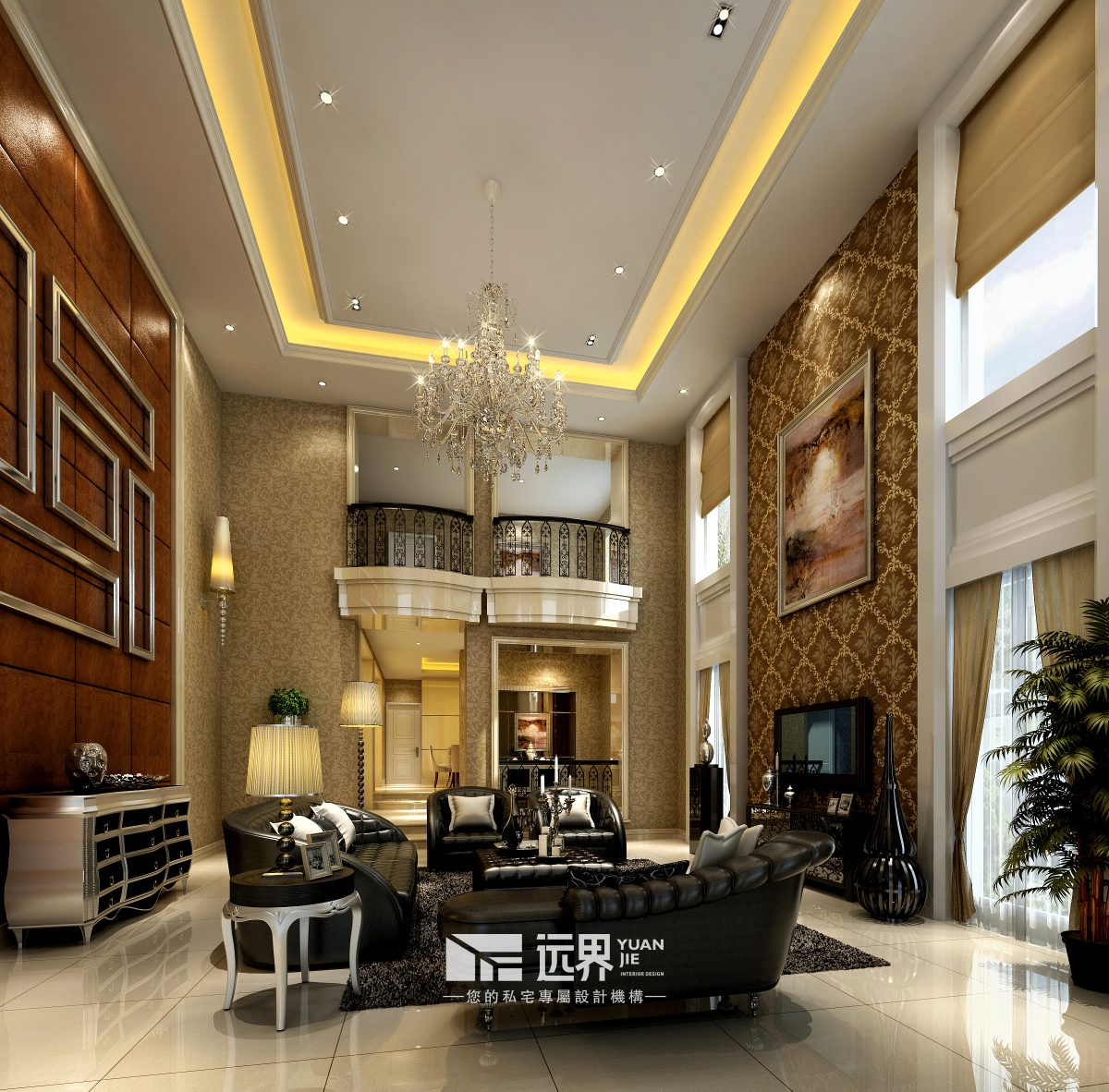 成都香碧歌庄园装修设计案例客厅